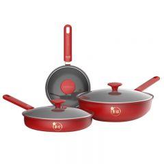 九阳(Joyoung)锅具套装炒锅汤锅奶锅三件套T0150