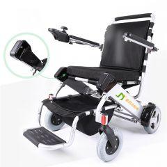 金百合 折叠轻便电动轮椅 D05 银白色